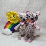 Annett von @haekelhummel kombiniert ihre Kätzchen mit dem LuckyTwins-Regenbogen