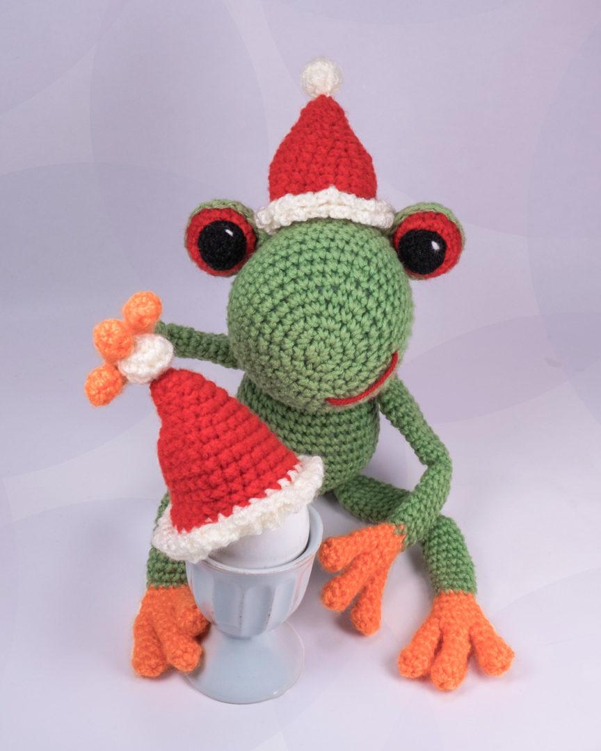 """Frosch """"Fred"""" mag seine Eier am liebsten weich...und mit Senf"""