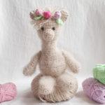 Das Alpaka von Romy wurde noch hübsch geschmückt