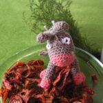 Ulrikes Eselchen steht total auf getrocknete Tomaten...er hat alle allein verputzt!